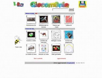 Main page screenshot of giocomania.org