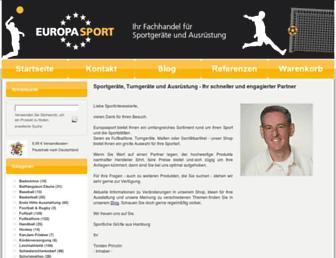 Main page screenshot of europasport.de