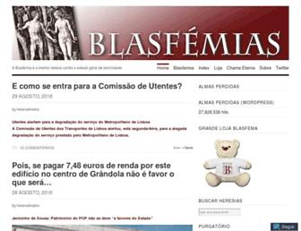 Main page screenshot of blasfemias.net