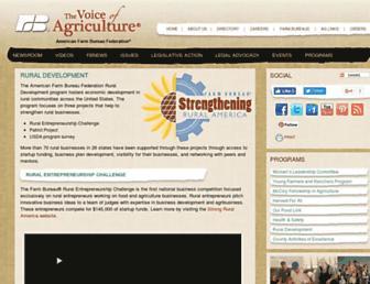 Main page screenshot of ruralcommunitybuilding.fb.org