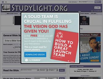 Main page screenshot of studylight.org
