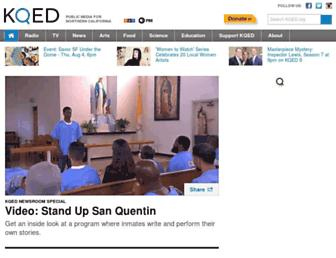 Main page screenshot of blogs.kqed.org