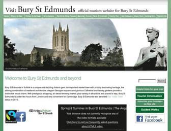 visit-burystedmunds.co.uk screenshot