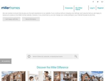 millerhomes.co.uk screenshot