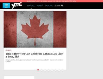 Main page screenshot of yummymummyclub.ca