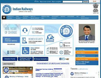 Thumbshot of Indianrailways.gov.in