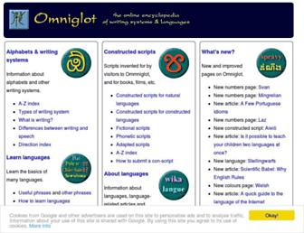 Thumbshot of Omniglot.com