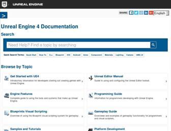 docs.unrealengine.com screenshot