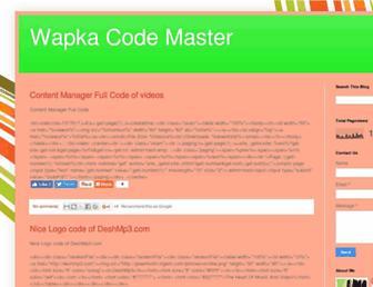 wapkacodemaster.blogspot.com screenshot