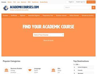 academiccourses.com screenshot