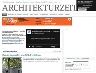 Main page screenshot of architekturzeitung.de