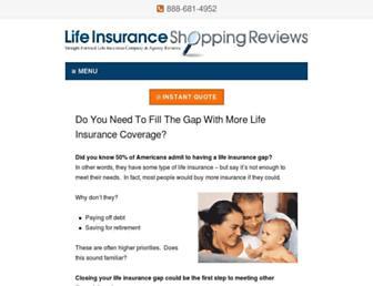 lifeinsuranceshoppingreviews.com screenshot