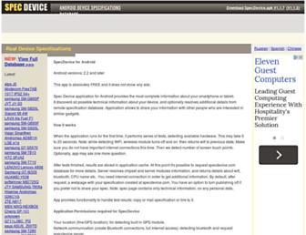 specdevice.com screenshot