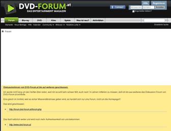 Main page screenshot of forum.dvd-forum.at