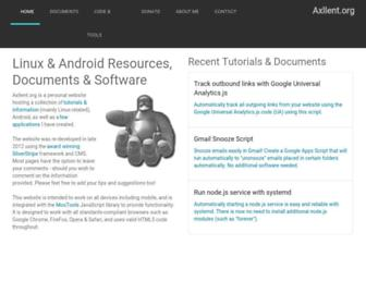axllent.org screenshot