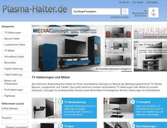 Main page screenshot of plasma-halter.de