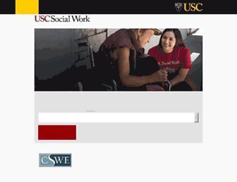 msw.usc.edu screenshot