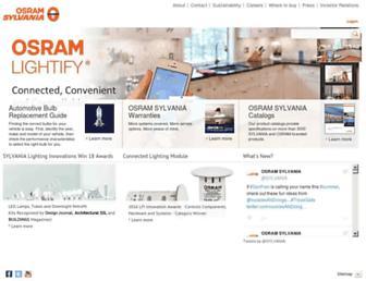 sylvania.com screenshot