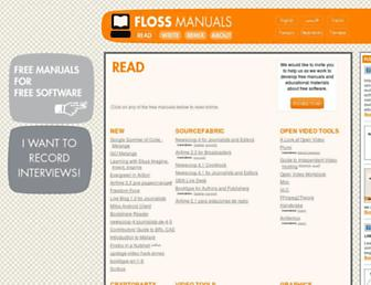 archive.flossmanuals.net screenshot