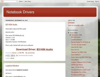 notebook-x-drivers.blogspot.com screenshot