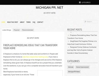 Main page screenshot of michiganpr.net