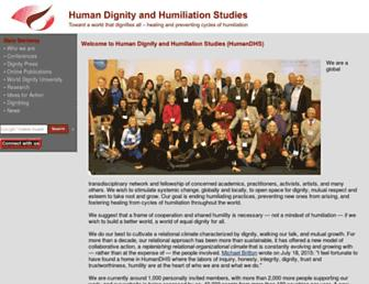 Main page screenshot of humiliationstudies.org