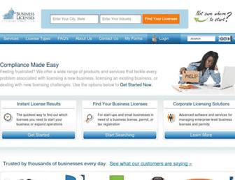 businesslicenses.com screenshot