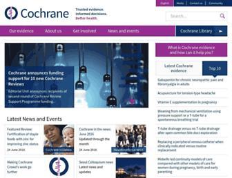 cochrane.org screenshot