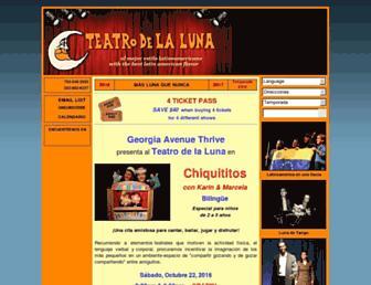 teatrodelaluna.org screenshot