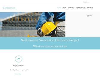 Screenshot for srebrenica-project.com