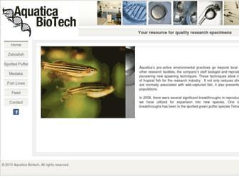 aquaticabiotech.com screenshot
