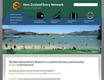Main page screenshot of entry.net.nz