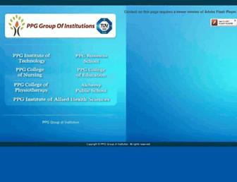 ppg.edu.in screenshot