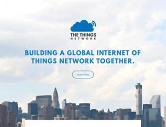 thethingsnetwork.org screenshot