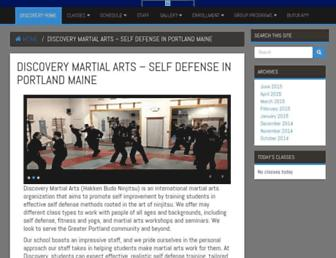 discoverymartialarts.net screenshot