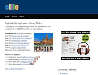 elllo.org screenshot