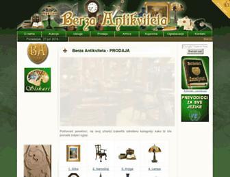 berza-antikviteta.com screenshot