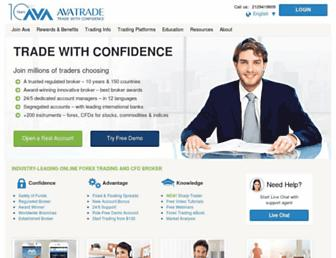 avatrade.com screenshot