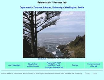 evolution.gs.washington.edu screenshot