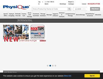 physique.co.uk screenshot