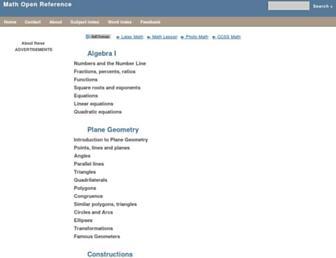 Thumbshot of Mathopenref.com