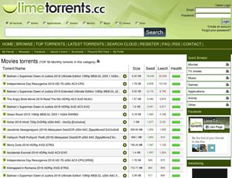 Thumbshot of Limetorrents.cc