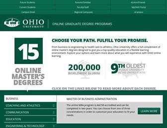 onlinemasters.ohio.edu screenshot