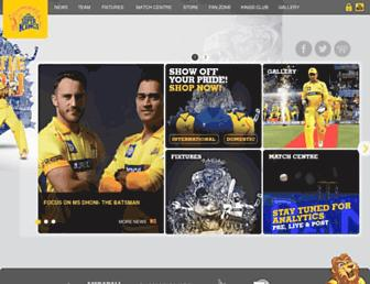 chennaisuperkings.com screenshot