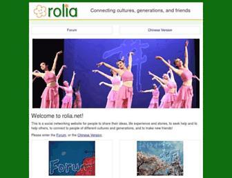 Main page screenshot of rolia.net