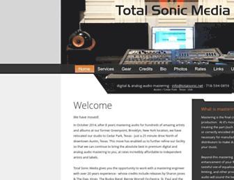 totalsonicmastering.com screenshot