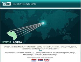 nod32adria.com screenshot