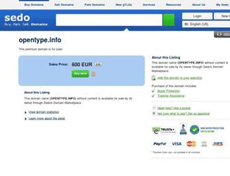 Main page screenshot of opentype.info