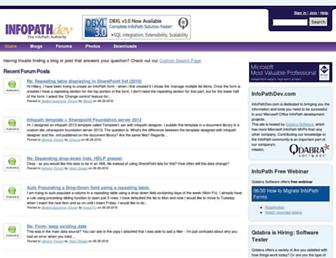 infopathdev.com screenshot