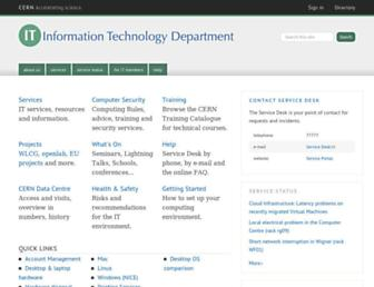 information-technology.web.cern.ch screenshot